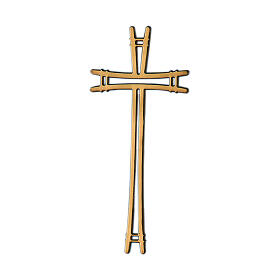 Simple design bronze cross for headstone 4 inc OUTDOOR USE s1