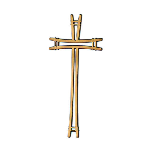 Simple design bronze cross for headstone 4 inc OUTDOOR USE 1