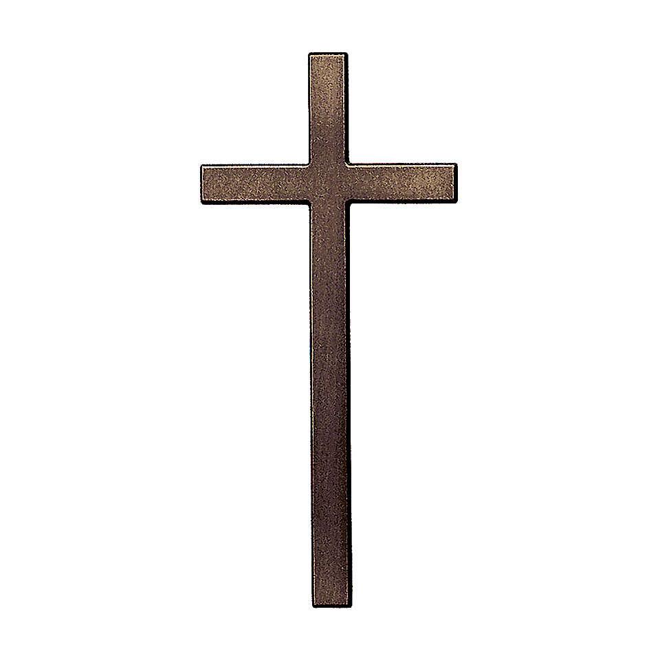 Cross in antique bronze 10 cm for OUTDOOR USE 3