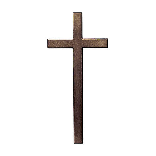Bronze cross with aged effect for headstone 8 inc OUTDOOR USE 1