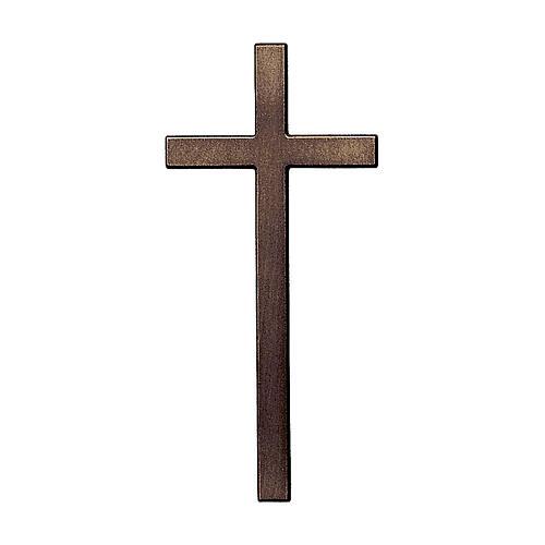 Crucifijo de pared bronce antiguo 15 cm para EXTERIOR 1