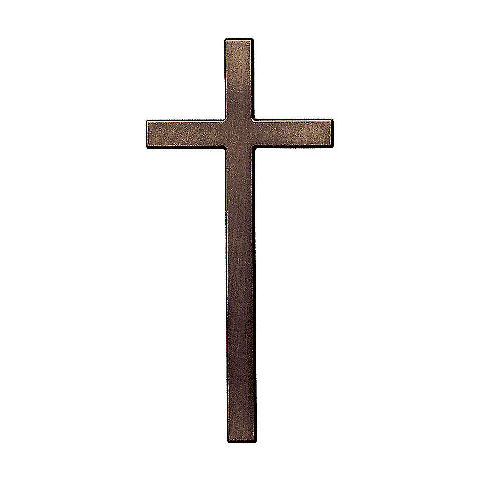 Bronze cross with aged effect for headstone 12 inc OUTDOOR USE 3