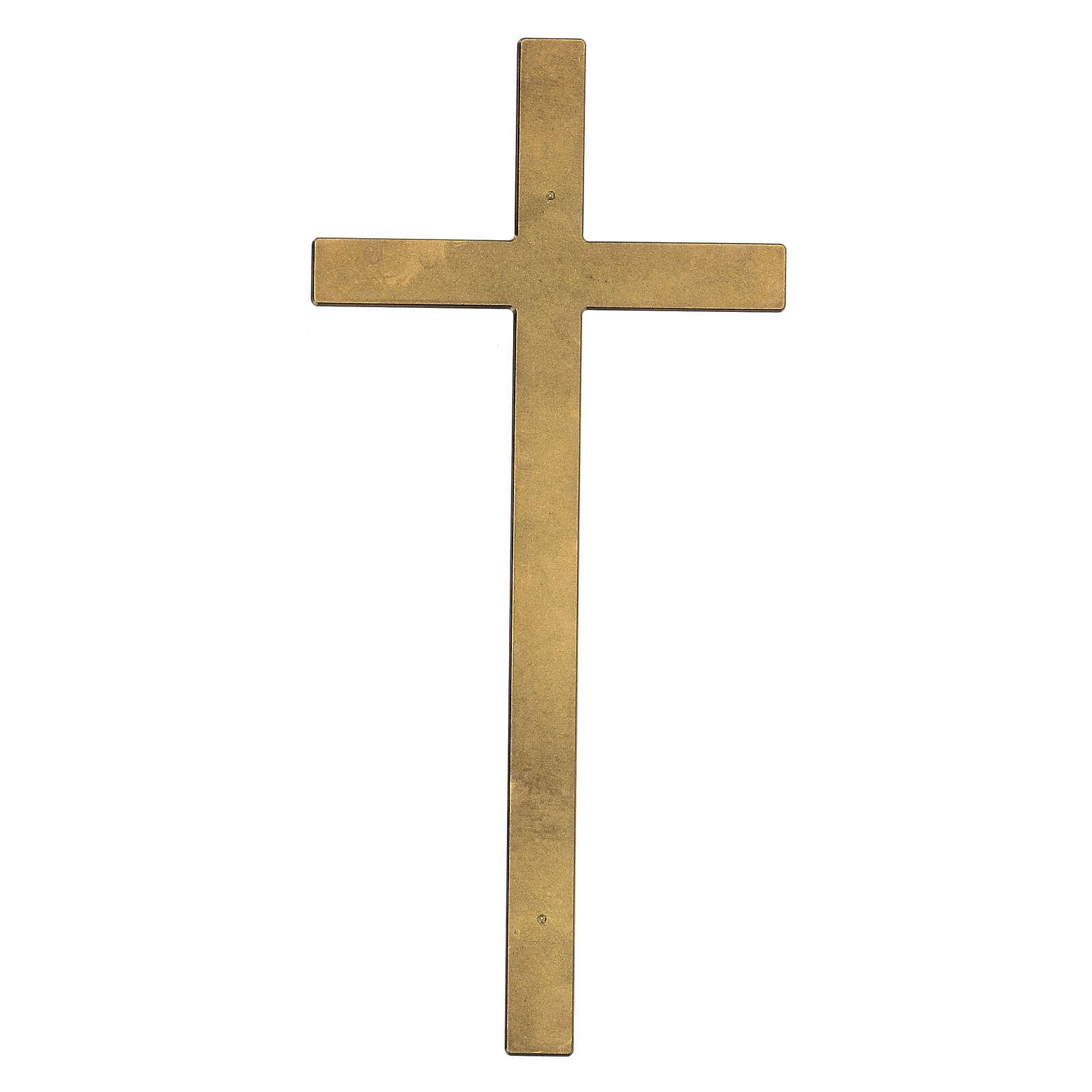 Cruz para lápida bronce antiguo 25 cm para EXTERIOR 3