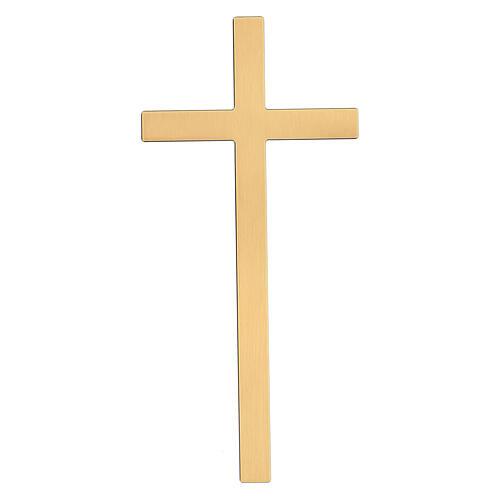 Cruz para lápida bronce antiguo 25 cm para EXTERIOR 1