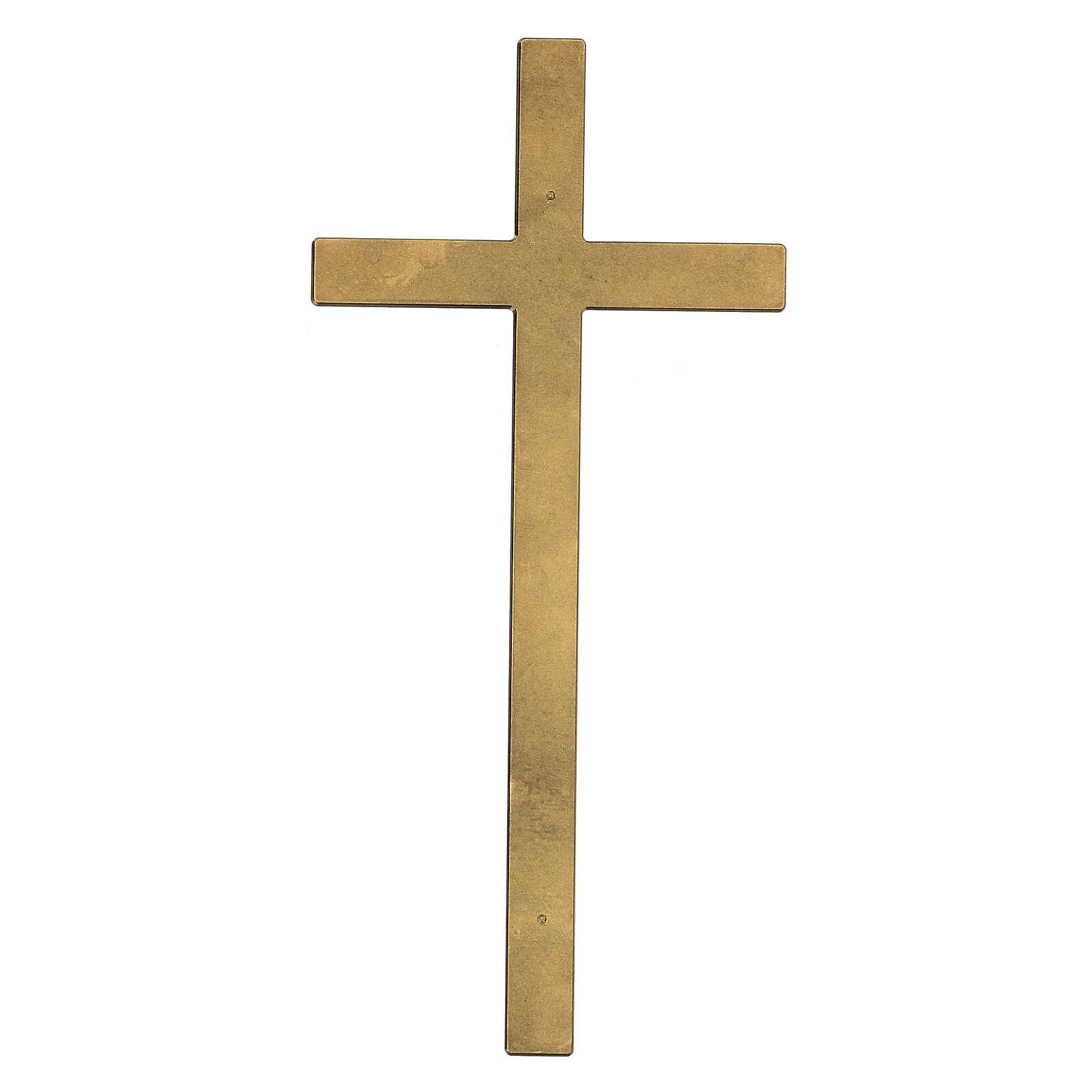 Croce da lapide bronzo antico 25 cm per ESTERNO 3