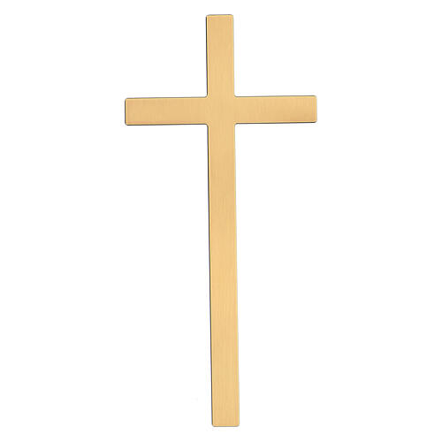 Bronze cross with aged effect for headstone 20 inc OUTDOOR USE 1