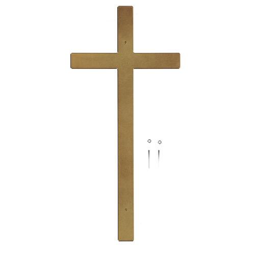 Cruz para lápida bronce lúcido 25 cm para EXTERIOR 3