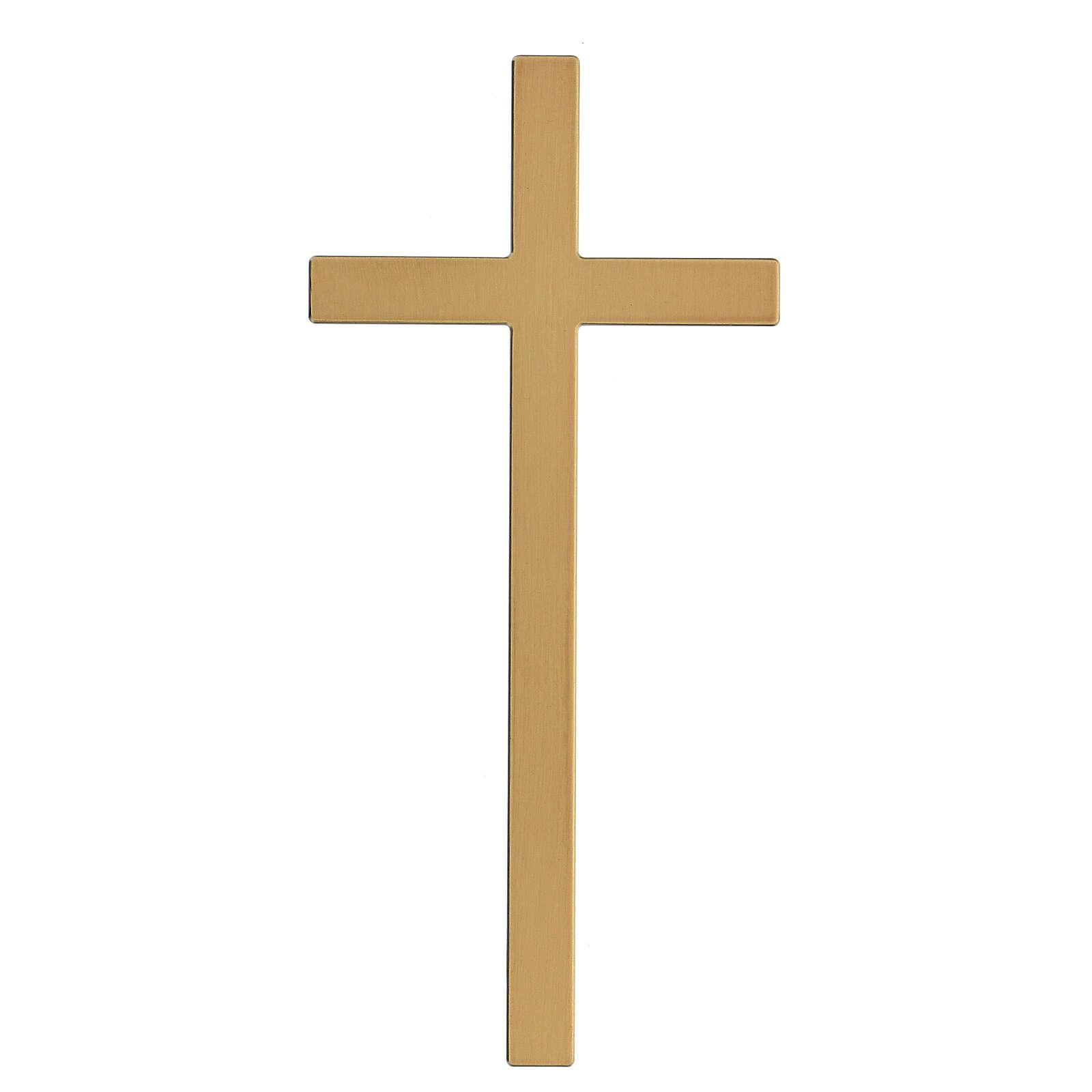 Croix pour pierre tombale bronze brillant 25 cm pour EXTÉRIEUR 3