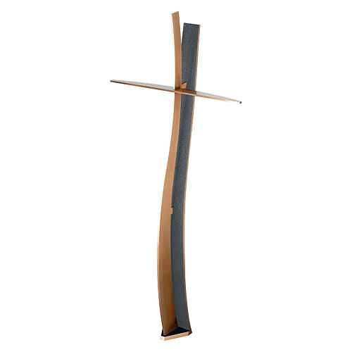 Curved cross bronze with BLUES finish 35 in OUTDOOR 1