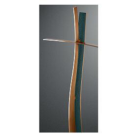 Croix bronze finition FOLK style moderne 90 cm pour EXTÉRIEUR s1