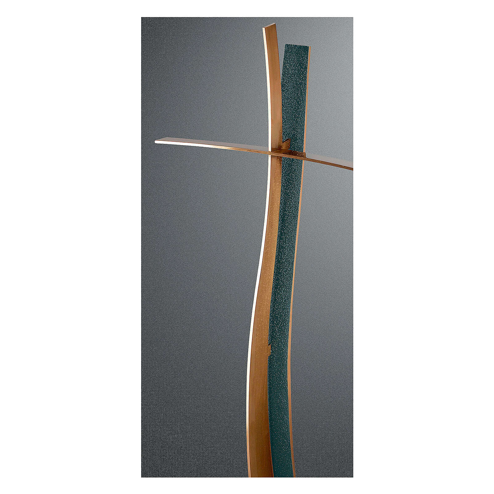 Modern crucifix with FOLK finish 60 cm for OUTDOOR USE 3