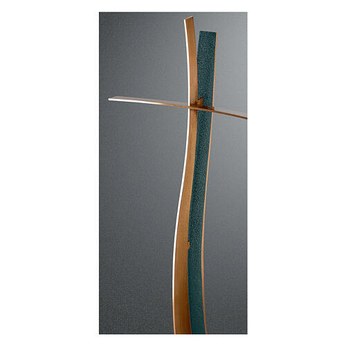 Modern crucifix with FOLK finish 60 cm for OUTDOOR USE 1