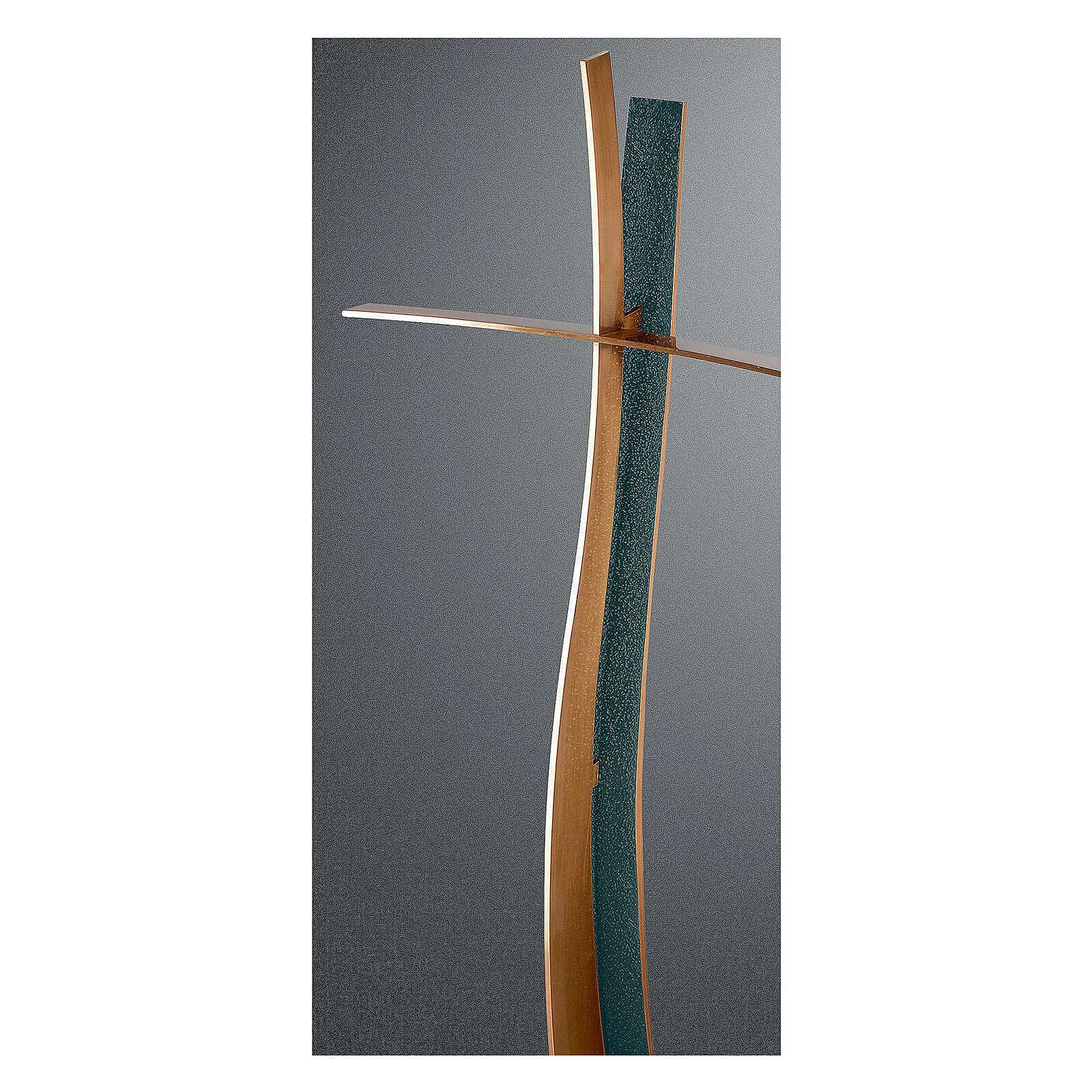 Modern bronze crucifix FOLK finish 24 in OUTDOOR 3