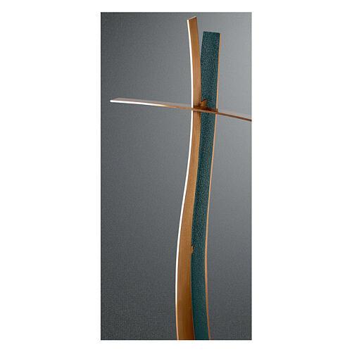 Modern bronze crucifix FOLK finish 24 in OUTDOOR 1