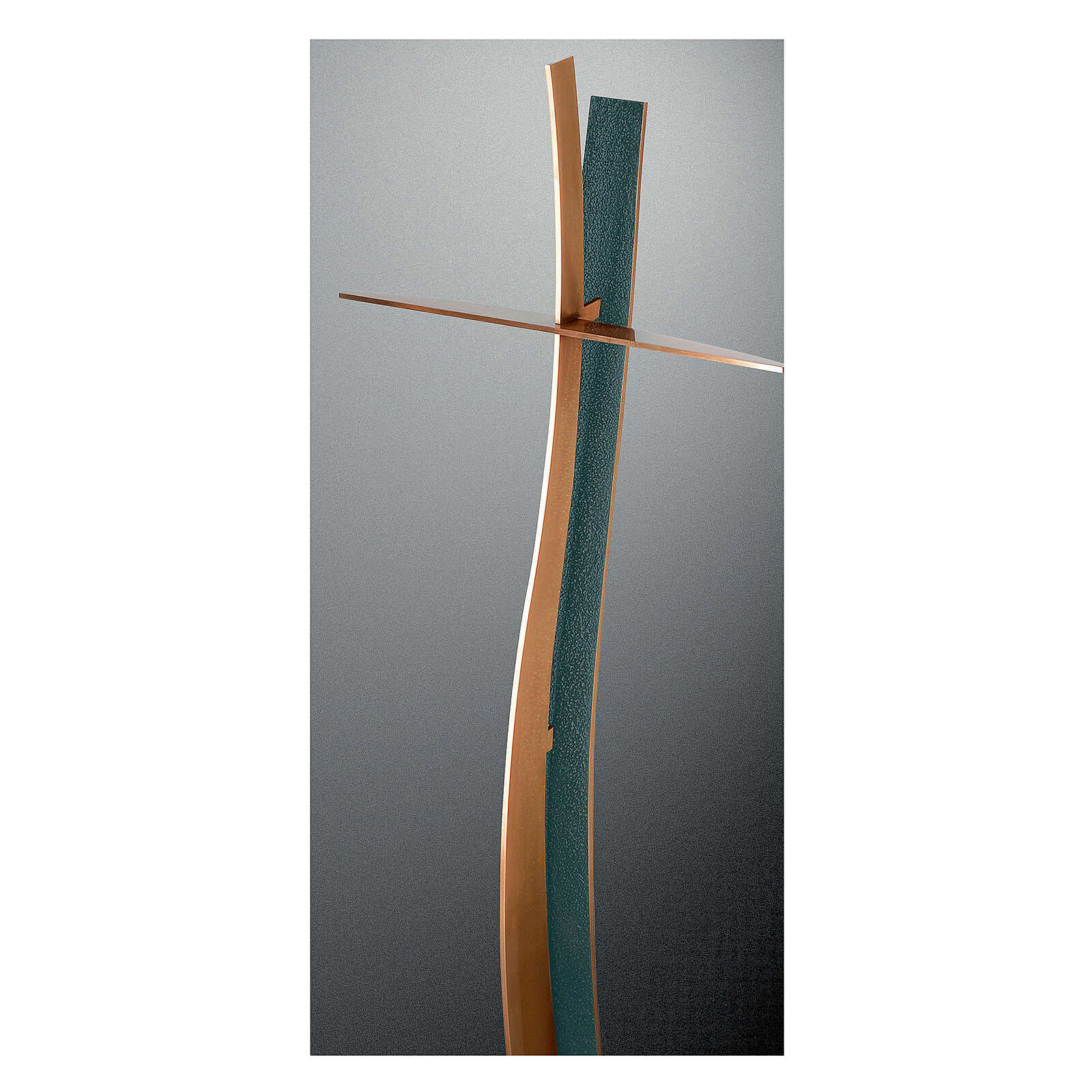 Curved cross bronze with FOLK finish 35 in OUTDOOR 3