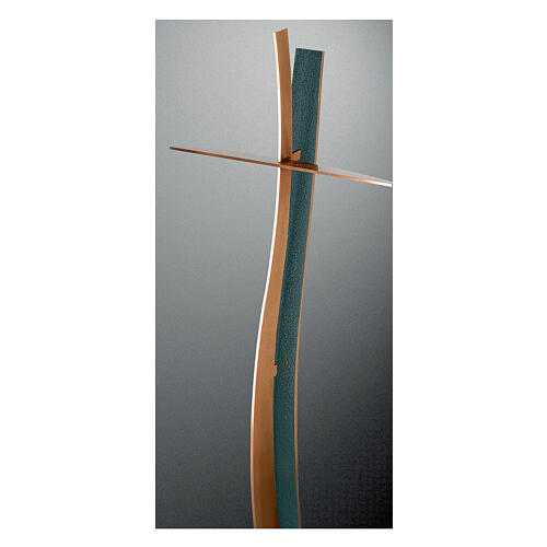Curved cross bronze with FOLK finish 35 in OUTDOOR 1