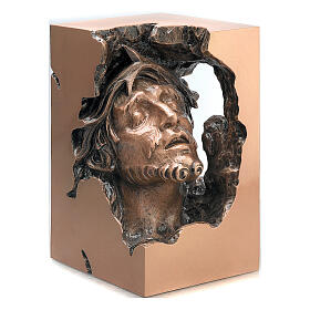 Busto Virgen dolorosa bronce 33 cm para EXTERIOR s1