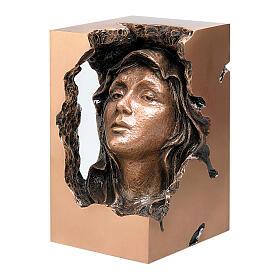 Busto Virgen dolorosa bronce 33 cm para EXTERIOR