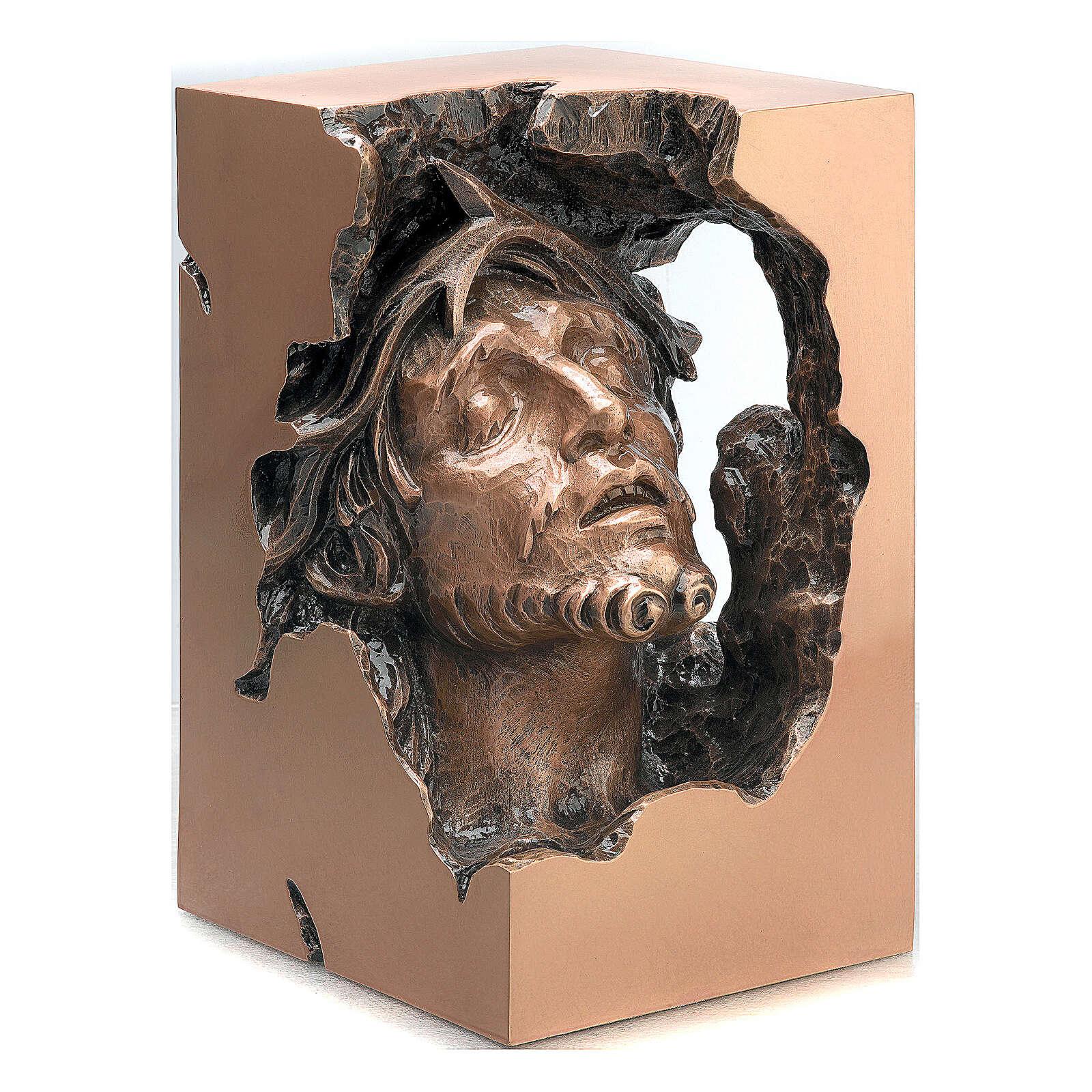 Busto Madonna sofferente bronzo 33 cm per ESTERNO 4