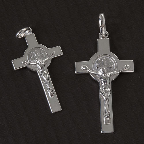 Cruz de San Benito plata lúcida 2