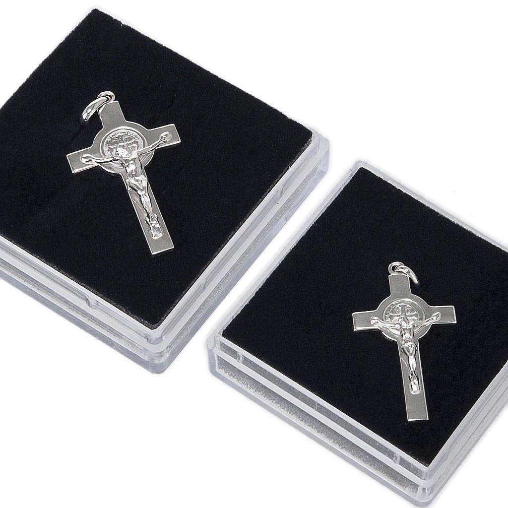 Krzyżyk Świętego Benedykta zawieszka srebro polerowane 4