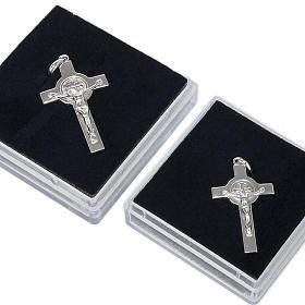 Krzyżyk Świętego Benedykta zawieszka srebro polerowane s5