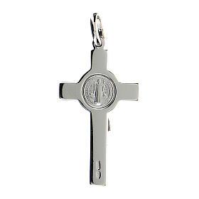 Krzyżyk Świętego Benedykta zawieszka srebro polerowane s4