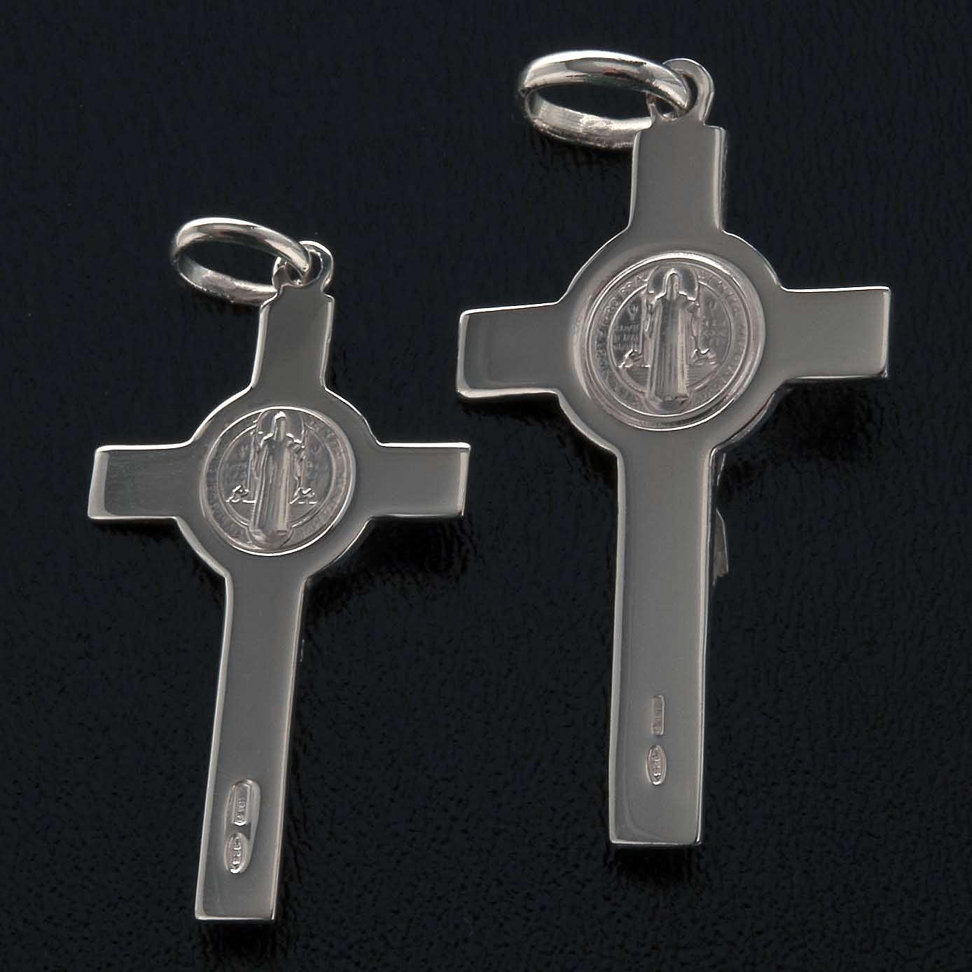 Saint Benedict cross pendant starling silver 4