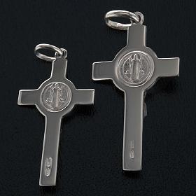 Saint Benedict cross pendant starling silver s7