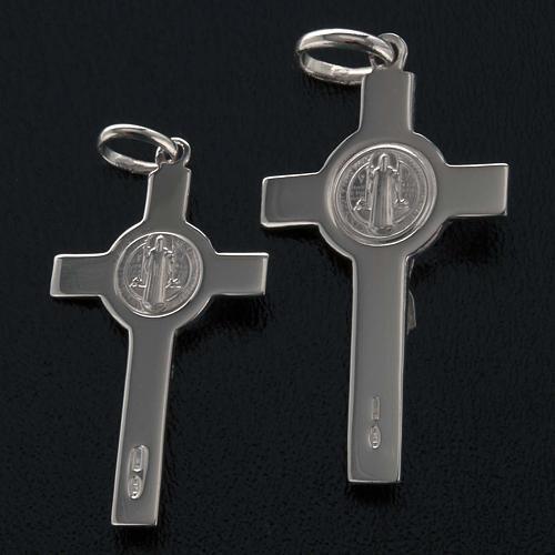 Saint Benedict cross pendant starling silver 7