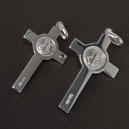 Saint Benedict cross pendant starling silver 10