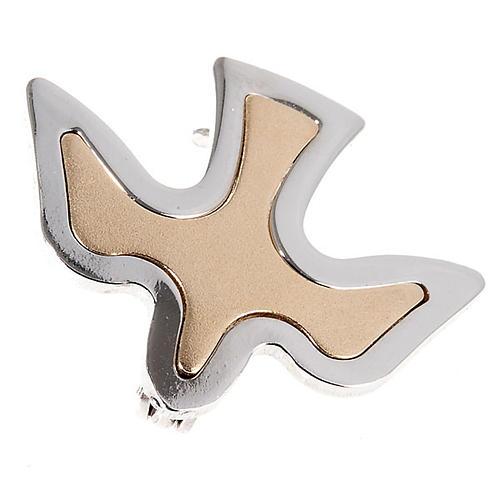 Dove brooch in bicoloured silver 1