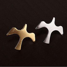 Button dove brooch in silver s2