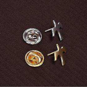 Button dove brooch in silver s3
