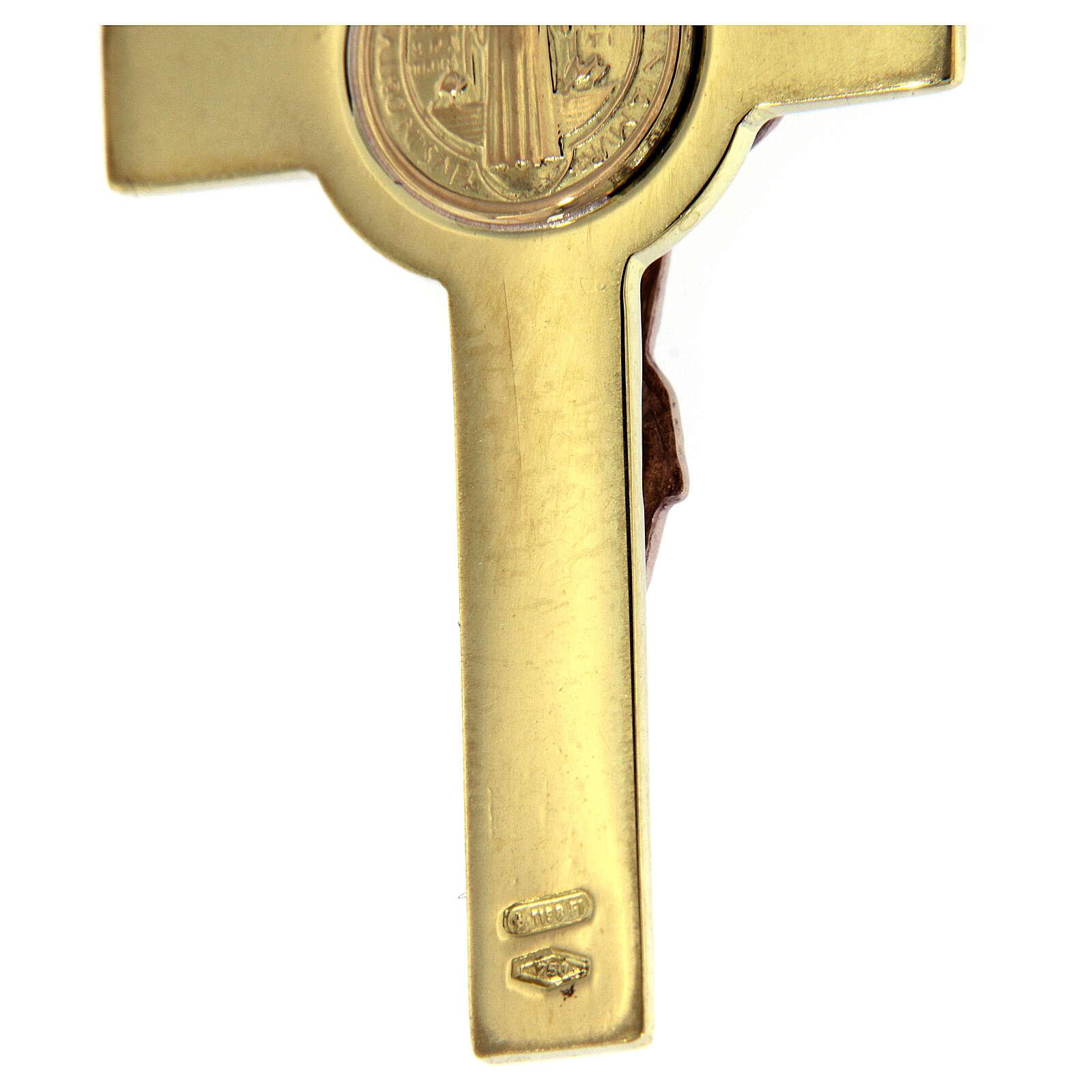 Croix de St. Benoît pendentif or et diamant 4