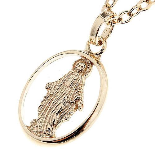 Madonna Miracolosa collana oro 750/00 - gr. 1,30 1
