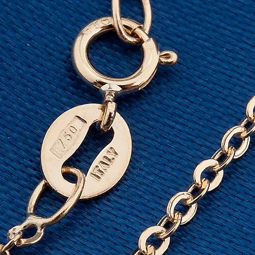 Madonna Miracolosa collana oro 750/00 - gr. 1,30 2
