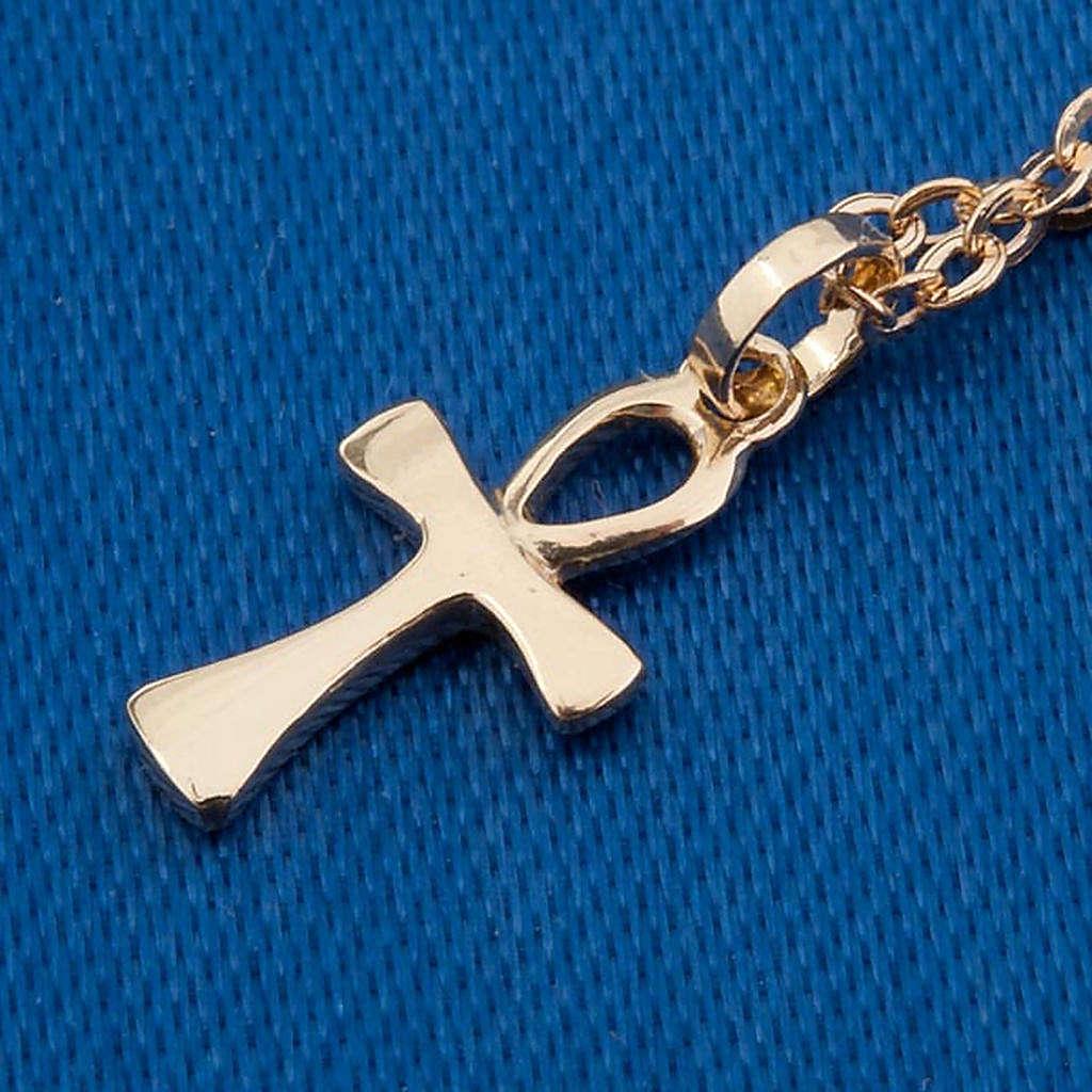 Croce della vita catenina oro 750/00 - gr. 1,30 4