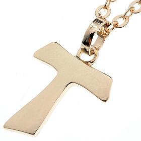 Tau cross gold 750/00 necklace - 1,40 gr s1