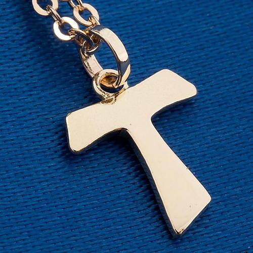 Tau cross gold 750/00 necklace - 1,40 gr 4