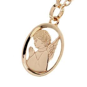 Pendenti, croci, spille, catenelle: Angelo custode pendente oro 750/00 - gr. 1,55