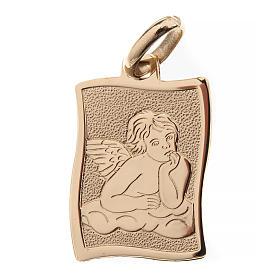 Pendenti, croci, spille, catenelle: Angelo di Raffaello medaglia oro 750/00 lucido - gr.1.60