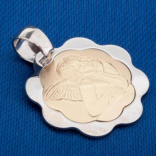 Angelo di Raffaello oro 750/00 bianco e giallo 3