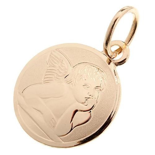 Angelo di Raffaello medaglia tonda oro 750/00 - gr. 1,0 1