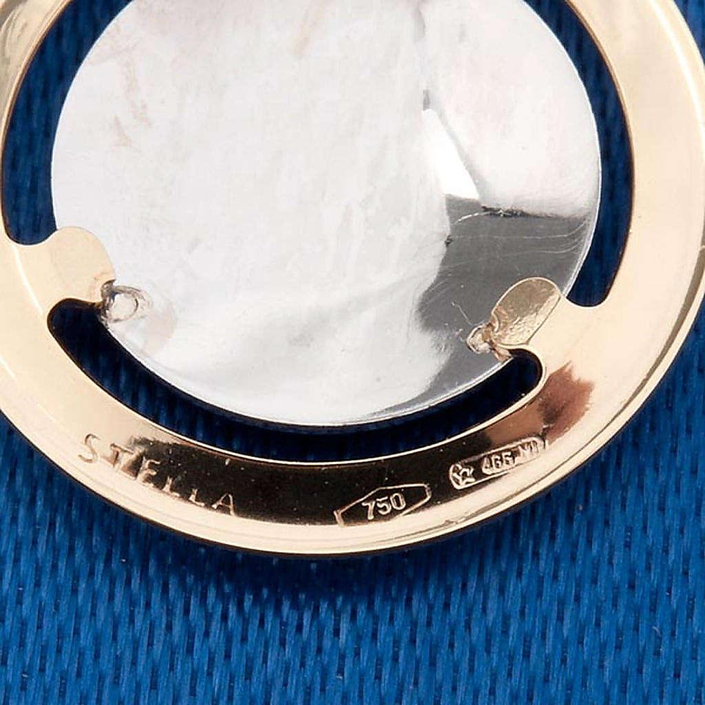 Angelo di Raffaello medaglia tonda oro 750/00 - gr. 1,3 4