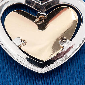 Gold heart shaped pendant with Raffaello's angel - 0,90 gr s2