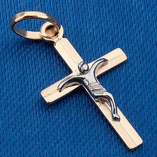 Cruz colgante oro 750/00 - gr. 0,60 3