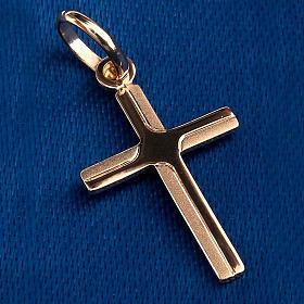 Croce pendente oro 750/00 - gr. 0,48 s3