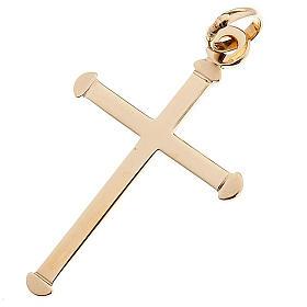 Croce stondata pendente oro 750/00 - gr. 0,70 s1