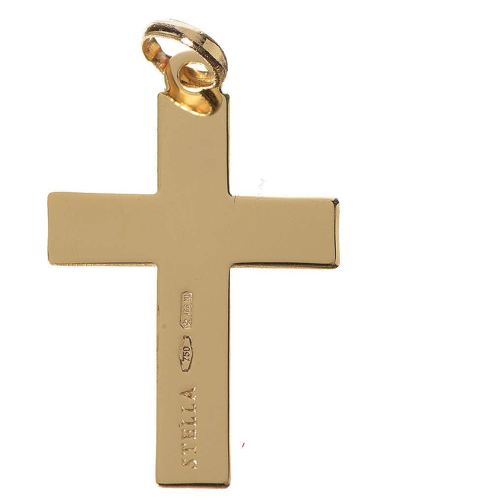 Cruz clásica colgante oro 750/00 - gr. 1,10 4